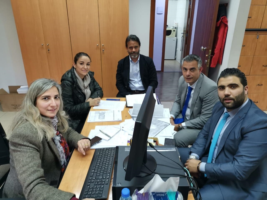 A session of the Monitoring visit at Université Antonine